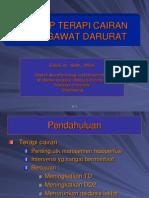 Dr. Zulkifli, Sp.an, Terapi Cairan Pada Gawat Darurat