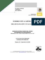 Análisis de resultados SecEXANI I-08