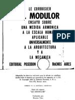 El Modulor Por Le Corbusier