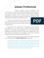 Pernyataan Profesional Praktikum