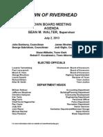 July 2, 2013 - Agenda
