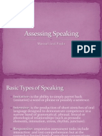 Assessing Speaking Marisol