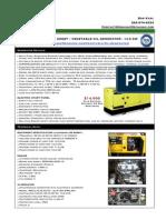 Vegetable Oil Generator Specs - 14.5 KW