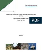 LEITI Post Award Process Audit Process Report