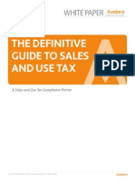 The Definitive Guide to Sales and Use Tax