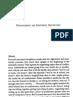 Deleuze - Postscript on Control Societies