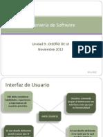 2012_CIF6558 IngenieriaSoftware UNIDAD 9 DISEÑO DE INTERFAZ DE USUARIO RESUMEN