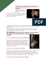 10 Razones por las que las mujeres permanecemos en relaciones difíciles