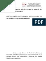 Proposta da RD de Plano Emergencial para Resolução dos Problemas Referentes às Provas.