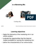 The E Marketing Mix