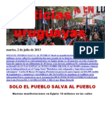 Noticias Uruguayas Martes 2 de Julio Del 2013