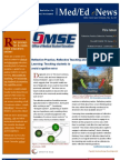 UA OMSE Med/Ed eNews v1 No. 09 (JUN 2013)
