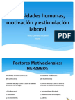 Necesidades humanas, motivación y estimulación laboral