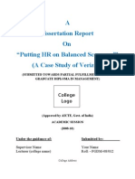 Dissertation Report on Putting HR