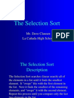 SelectionSort With Java