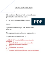 EXERCÍCIO DE REFORÇO-FORMAÇÃO DAS PALAVRAS