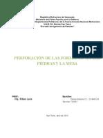 PERFORACIÓN DE LAS FORMACIONES LAS PIEDRAS Y LA MESA