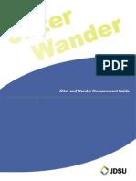 JDSU Jitter and Wander Measurement Guide