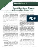 Supreme Court Decisions Change  Legal Landscape for Employers