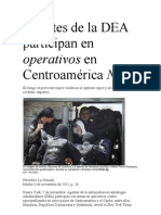Agentes de la DEA participan en operativos en Centroamérica NYT