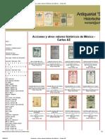 Acciones y otros valores históricos de México - Cartas AZ