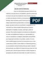 ANÁLISIS CRITICO CHISPIÑA