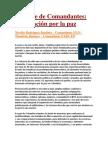Comunicado Cumbre de Comandantes Declaracion Por La Paz