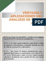 Ventajas y Aplicaciones Del Analisis de Valor Anual