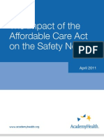 Impact of ACA on the Safety Net