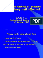 Managing Carious Primary Teeth