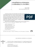 Wolff, F. - Dois destinos possíveis da ontologia.