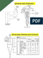 Ciclones - Dimensionar
