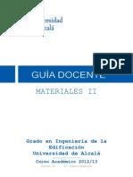 Gu%Eda Docente Materiales II Gie (2012-13)