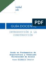 Guia Introduccion Construccion GARQ (Curso 2012-13)