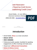 Guide to RepairingCredit Scores and Re – Establishing Credit Lines