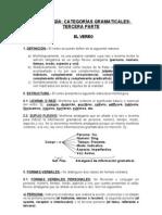 CATEGORÍAS GRAMATICALES - TERCERA PARTE