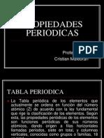 PROPIEDADES PERIODICAS 1° medio