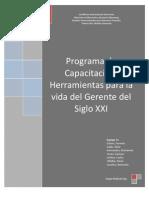 Proyecto Programa de Capacitacion Herramientas Para La Vida Del Gerente Del Siglo XXI