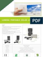Lumina Portable Solar Lighting Kit Flyer v1.8