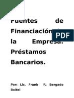 Fuentes Financiacion Empresa Prestamos Bancarios