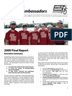 City of Chicago's Bicycling Ambassadors 2009 Final Report