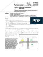 City of Chicago's Safe Routes Ambassadors Final Report 2009-2010
