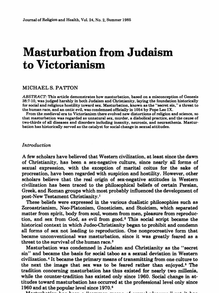 Age that boys start to masturbate