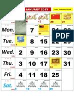 Kalender Kuda 2013