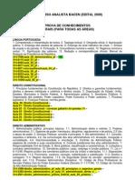 Conteúdo Programático - Área 4