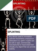 nursing splinting skills in powerpoint presentation