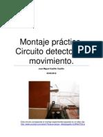 Montaje práctico de un circuito  detector de movimientos