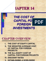 the cost of capital for foreign investments