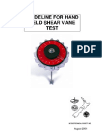 Shear Vane Guidelines