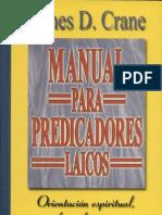 Manual Para Predicadores Laicos Por James D. Crane